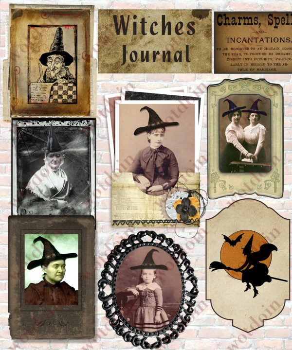 Witch Halloween Portraits Real Illustrations
