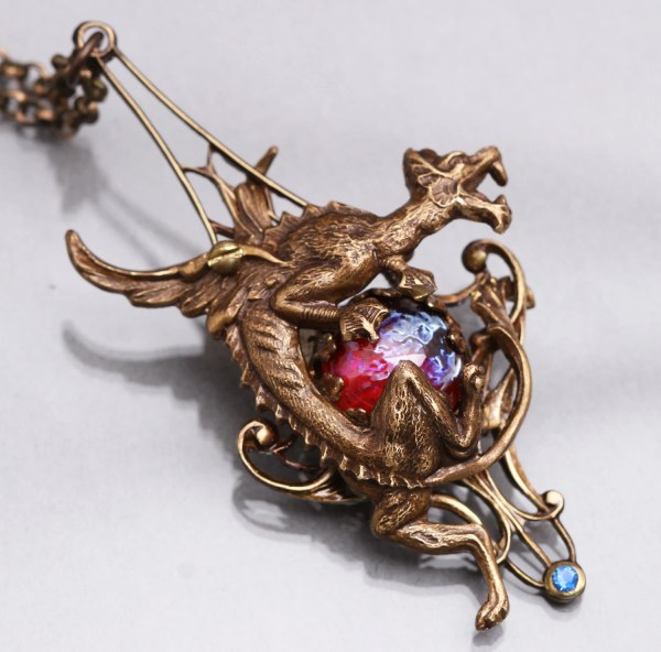Dragon Necklace Steampunk Dragons Breath Fire