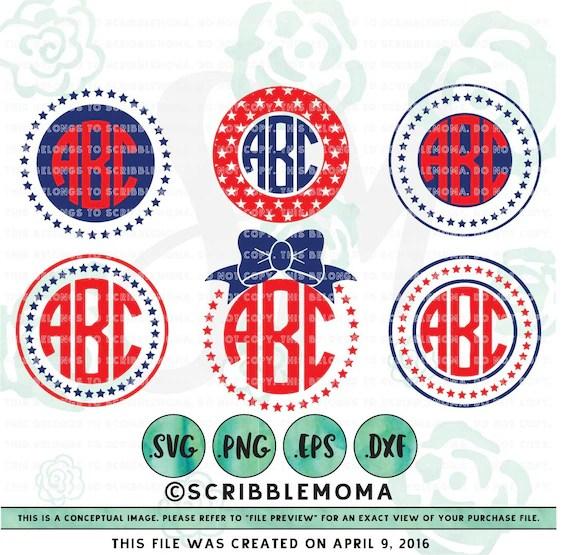 Download July 4th Monogram svg for Cricut July 4th svg Independence