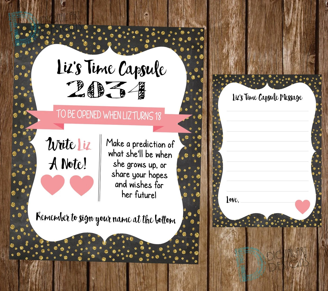 Time Capsule First Birthday Baby Girl Time Capsule Child