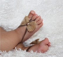 Tan Baby Sandals Barefoot Sandal Soft