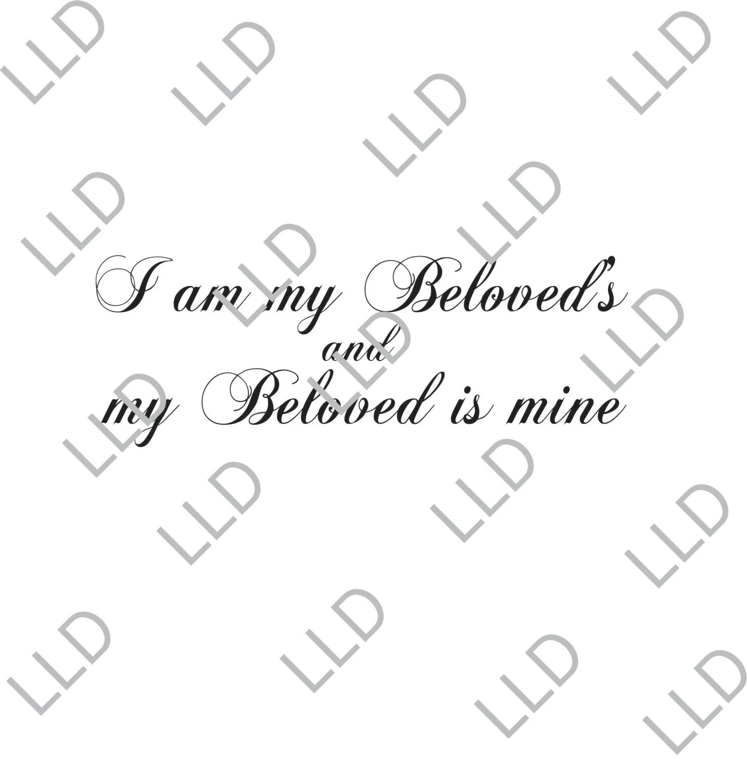 Scripture Wall Art I am my Beloved's and my Beloved is