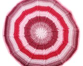Crochet Pillow with strip...