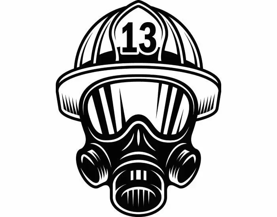 Firefighter Helmet #1 Firefighting Mask Respirator Fireman