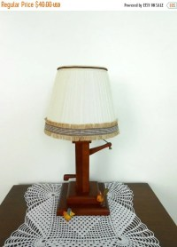 20% Off Wooden Water Pump Lamp with Shade by My3LuvBugsVintage