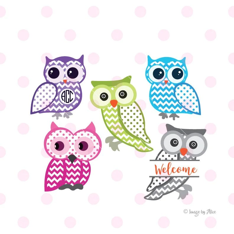 Download Owl SVG owl monogram svg owl clipart owl wall decor owl