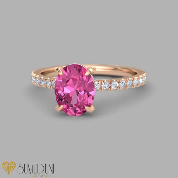 pink sapphire ring Sumuduni Gems $2,299.00