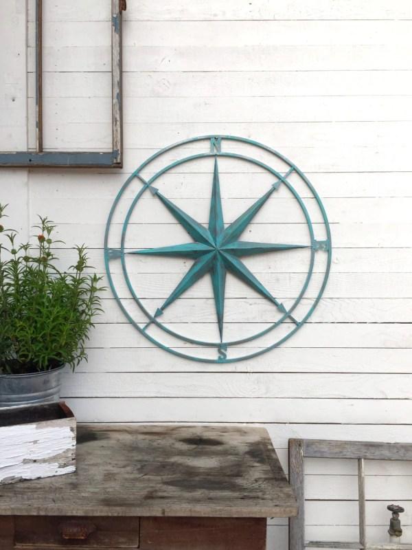 Nautical Wall Decor Compass Art Metal