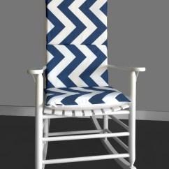 Navy Rocking Chair Walking Stick Malaysia Cushion Cover Zippy Chevron Ready To
