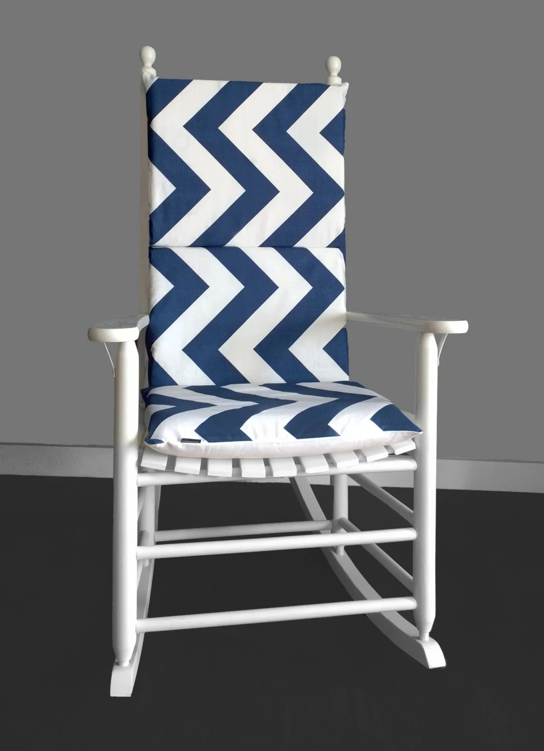 Navy Rocking Chair Rocking Chair Cushion Cover Zippy Chevron Navy Ready To
