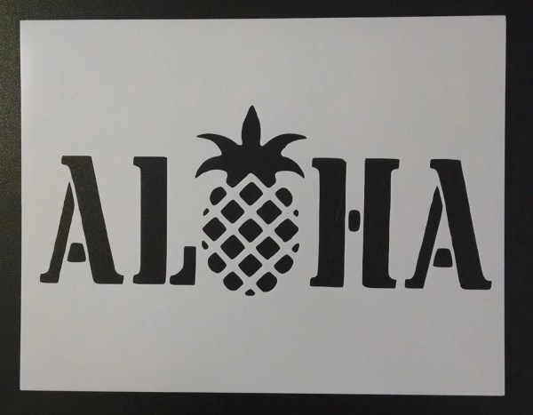 Hawaiian Hawaii Aloha Pineapple Custom Stencil Fast Free