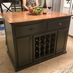 Wine Rack Island Kitchen Aids With 10 Overhang And