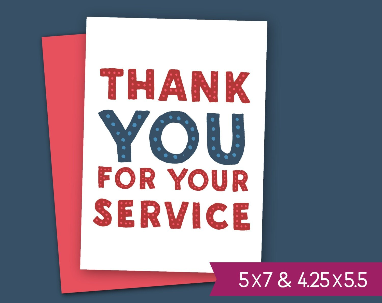 Veterans Day Printable Card Thank You For Your Service Note