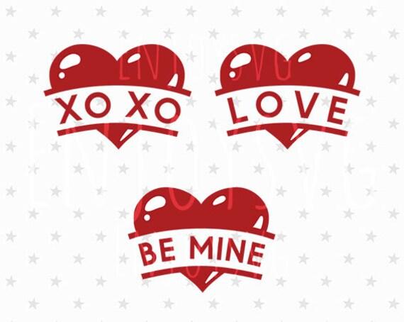 Download Valentines day Heart svg Love svg XOXO svg Be Mine svg ...