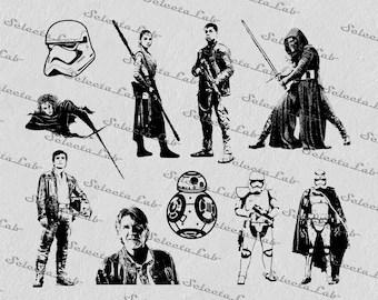 22 Star Wars/ printable star wars silhouette /Star wars