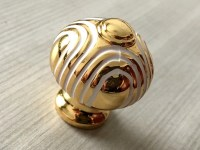Small White Gold Door Knob Pull Drawer Knobs Pulls Handles