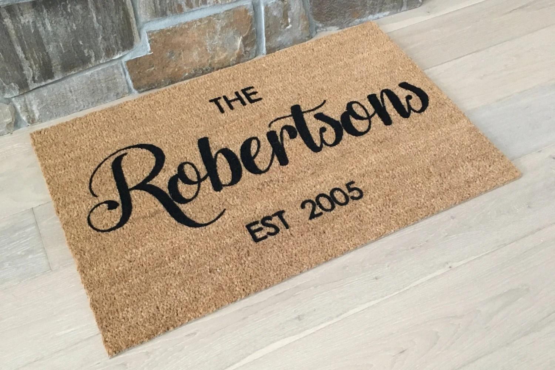 personalized door mats