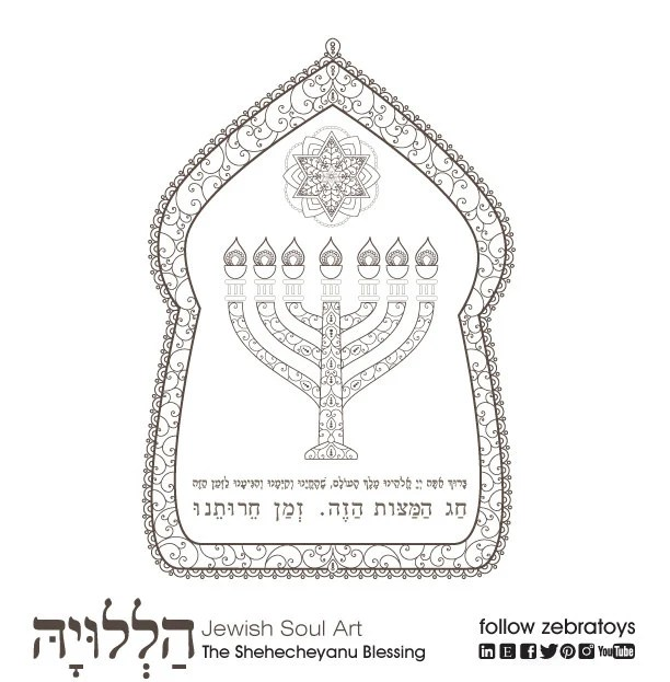 The Shehecheyanu Blessing-Passover Prayer-1 Coloring Printable