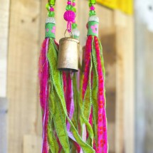 Wind Chime Beaded Mobile With Brass Bells Sun Ronitpeterart
