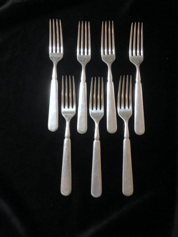 7 Dinner Forks Windsor Pattern 1847 Rogers Bros Silver Plate