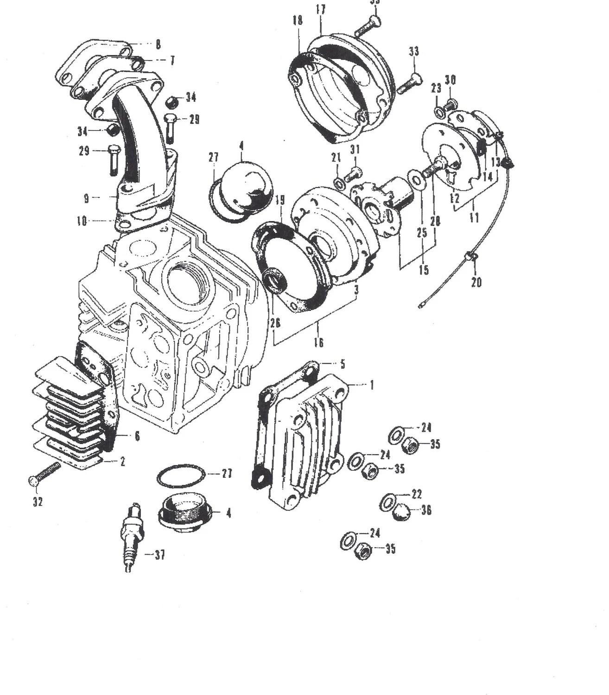 Honda Motorcycle Parts- Engine Points Base Gasket, Trail