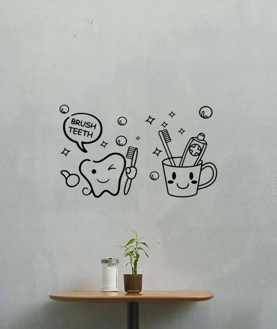Brush Teeth Wall Decal