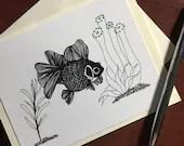 Aquarium Life Fish Note C...