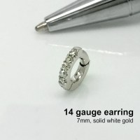 14 gauge cartilage diamond hoop earring diamond hoop earring
