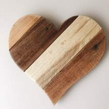 Reclaimed Pallet 13 Wood Heart Rustic Country Farm