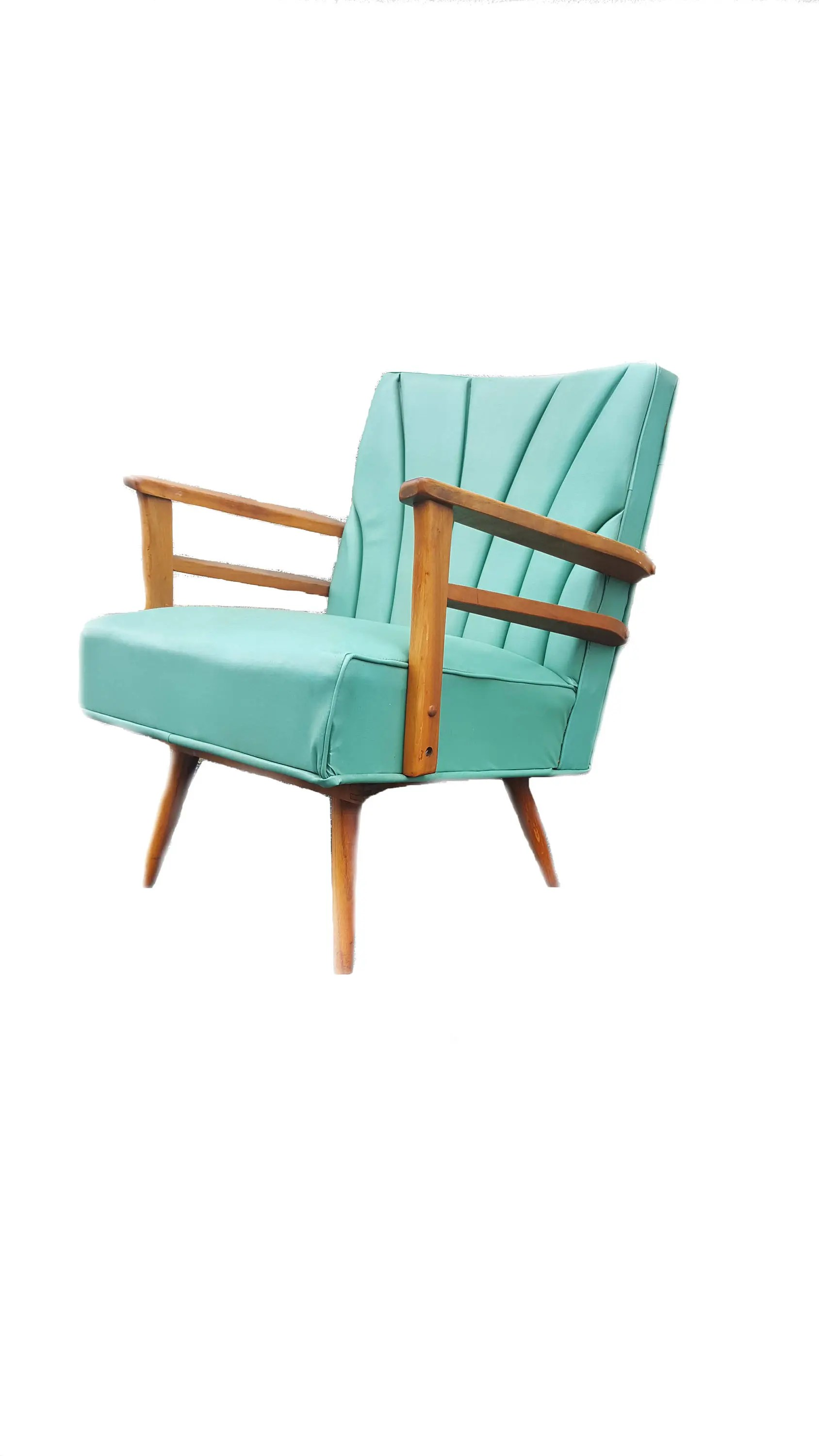 Teal Rocking Chair Mid Century Rocking Chair Vintage Teal Rocker