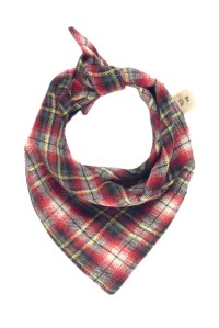 Plaid Dog Scarf, Red Flannel Dog Bandana, Fall Puppy ...