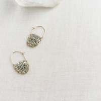 Raw Diamond Hoop Earring Raw Diamond Earrings Gold Diamond