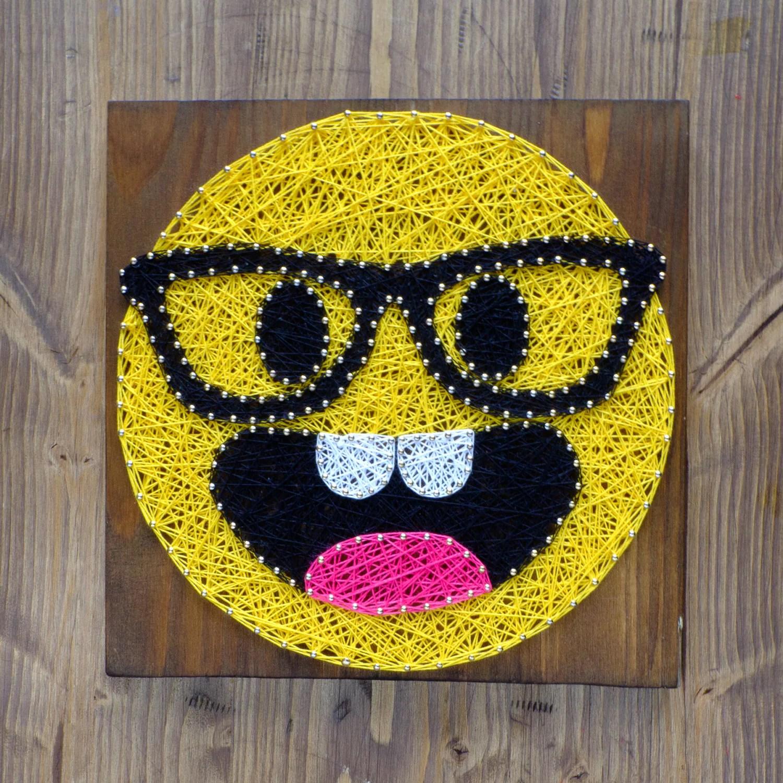 Moderne Art String Emoji dcoration murale smarty pants emoji