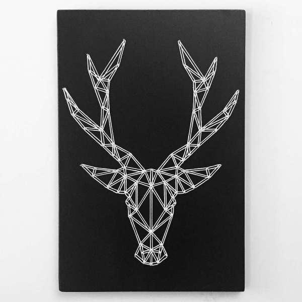 Geometric String Art Deer