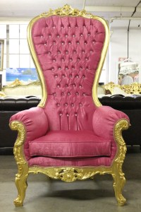 Beautiful High Back Party Throne Chair Pink/Gold by ...