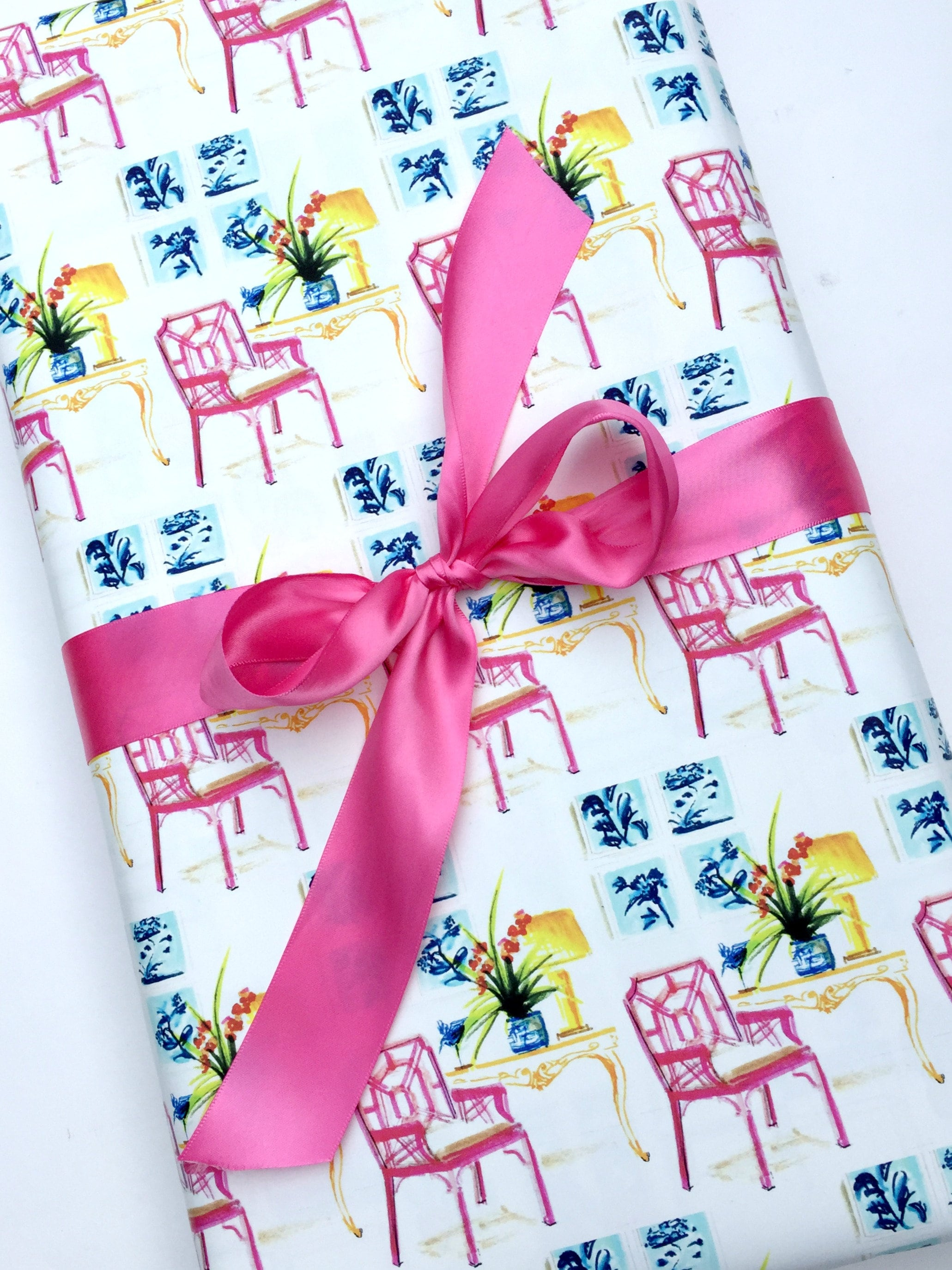 lilly pulitzer chair target rocking wrapping paper roll gift wrap pink