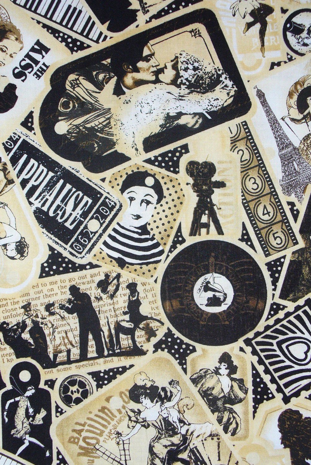 Curtain Call Fabric Movies Fabric Silent Films Charlie Chaplin