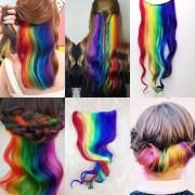 custom under lights clip in hair
