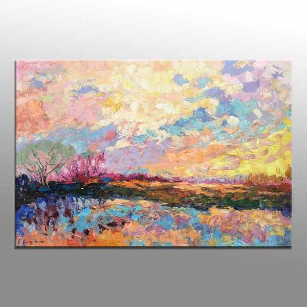 Abstract Painting Oil Large Art Original