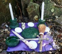 Complete Portable Pagan Altar Kit Duluxe Travel In