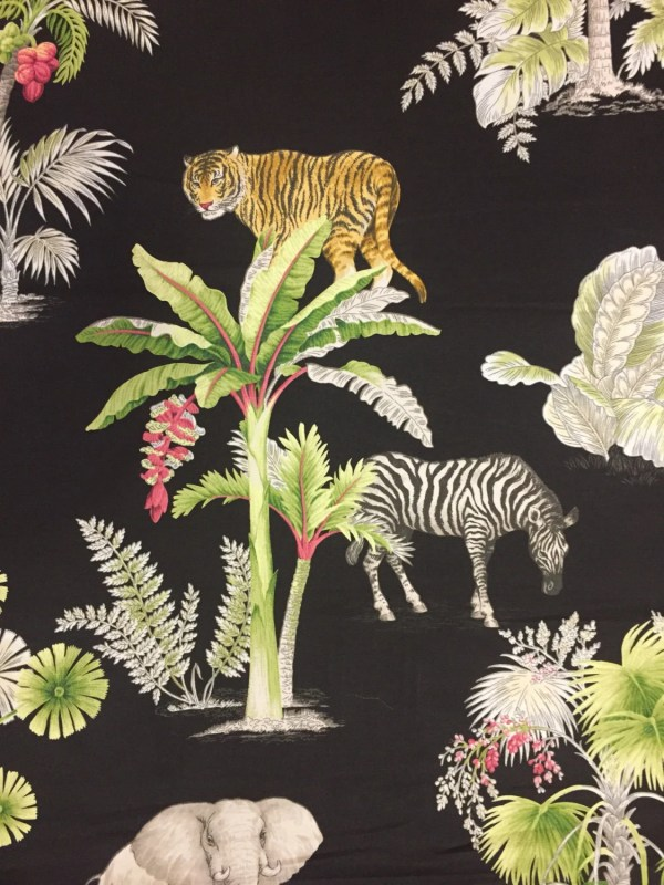 Congo Black Zebra Elephant Cheetah Palm Trees Pink