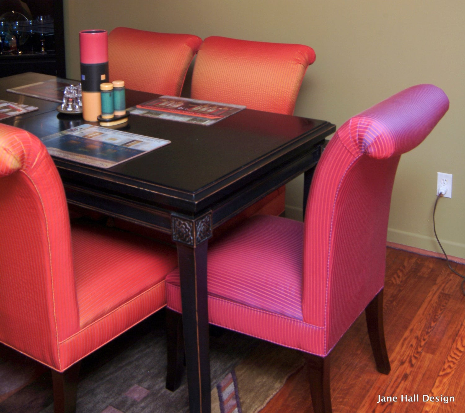 orange parsons chair leather tufted and ottoman upholstered dining in magenta