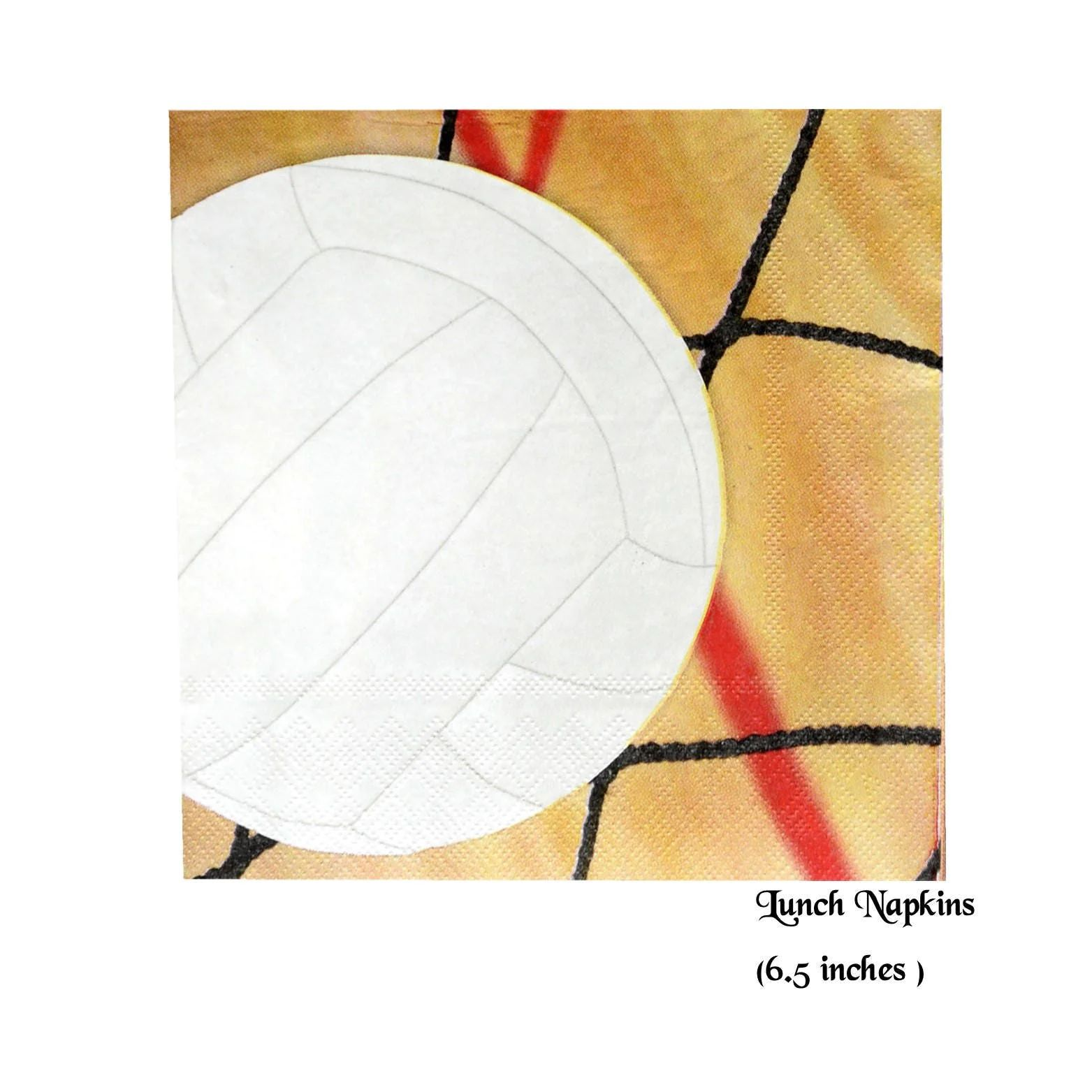 Volleyball Napkins Sports Graduation Party Decorations 16ct