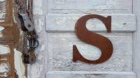 Large Metal Letters For Outside | Wall Plate Design Ideas