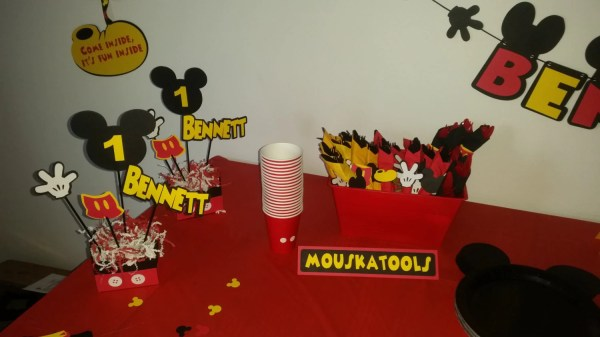 Mickey Mouse Food Tents. Clubhouse Birthday