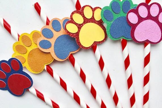 10 Paw Patrol Straws Puppy Party