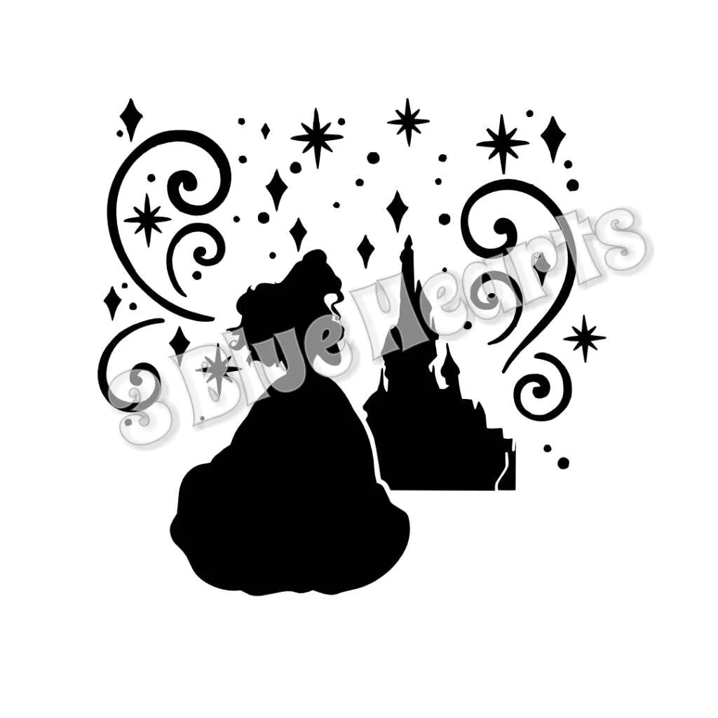 Belle Castle Silhouette Svg Studio Dxf Beauty And The