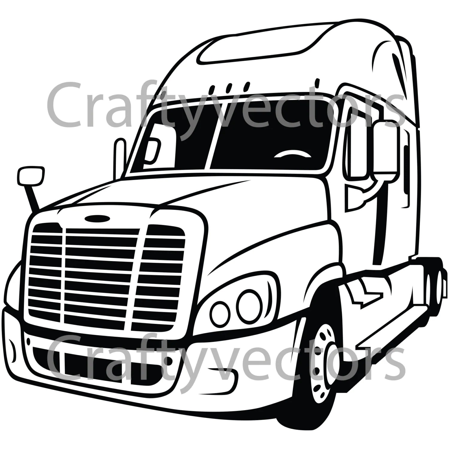 Freightliner Cascadia Rig Vector File From Craftyvectors