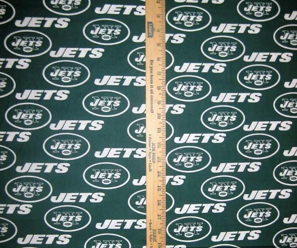 Nfl Logo York Jets 6455d Green Cotton Fabric