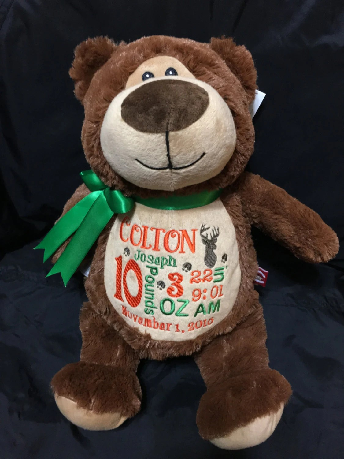 Personalized Stuffed Animal Baby By Beckysuescreations On Etsy